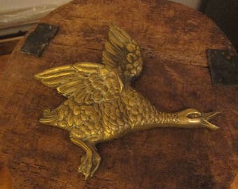 brass wall mounted flying duck