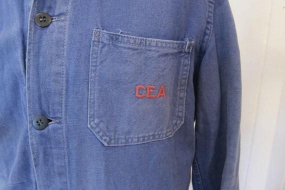 french 70s workwear indigo jacket CEA - image 4