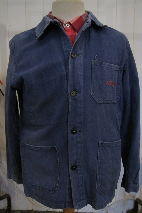 french 70s workwear indigo jacket CEA