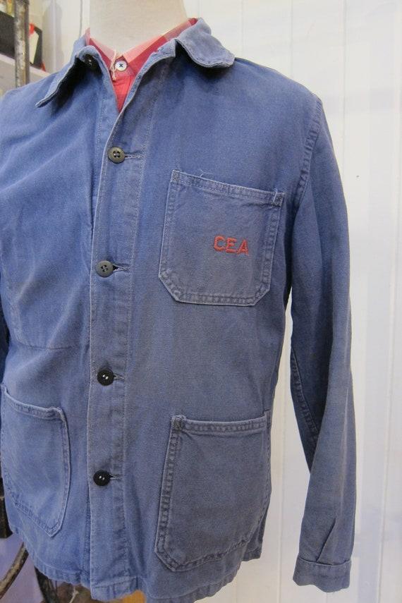 french 70s workwear indigo jacket CEA - image 2
