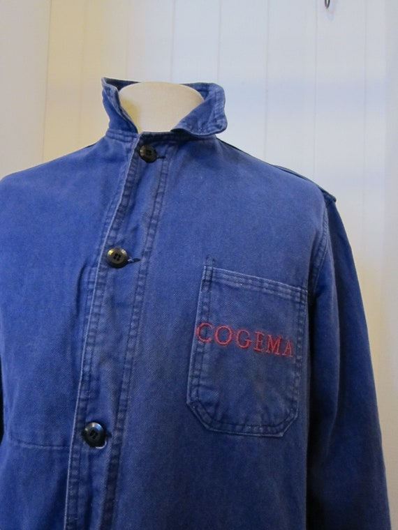 french moleskin workwear jacket 70s cogema - image 2