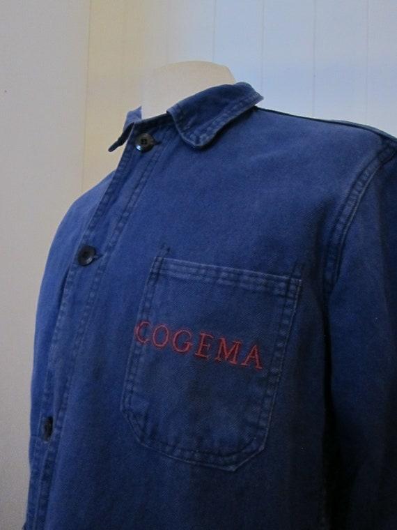 french moleskin workwear jacket 70s cogema - image 3