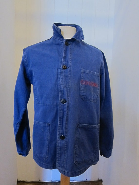 french moleskin workwear jacket 70s cogema