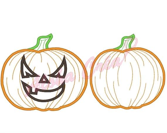 Máquina del bordado patrón aplicado calabaza halloween 2 | Etsy