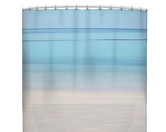 Blue shower curtain, blue bathroom decor, ocean shower curtain, beach shower curtain, tropical shower curtain, nautical shower curtain