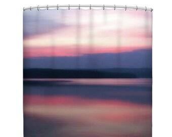 Pink Shower Curtain Ocean Purple Bathroom Decor Photo Bath Matbathroom Set Abstract