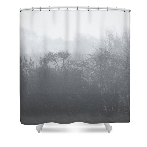 Tree Shower Curtain Tree Bathroom Decor Black And White Etsy