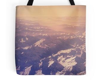 Purple bag, purple tote, market bag, market tote, work bag, shopping bag, grocery tote, book tote, reusable bag, everyday bag, unique, photo