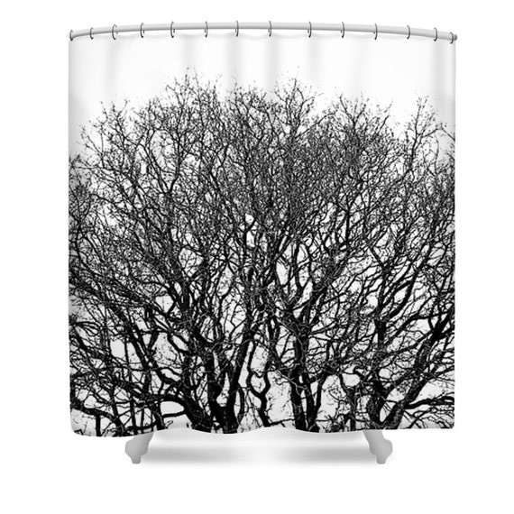 Black And White Shower Curtain Black And White Bathroom Etsy