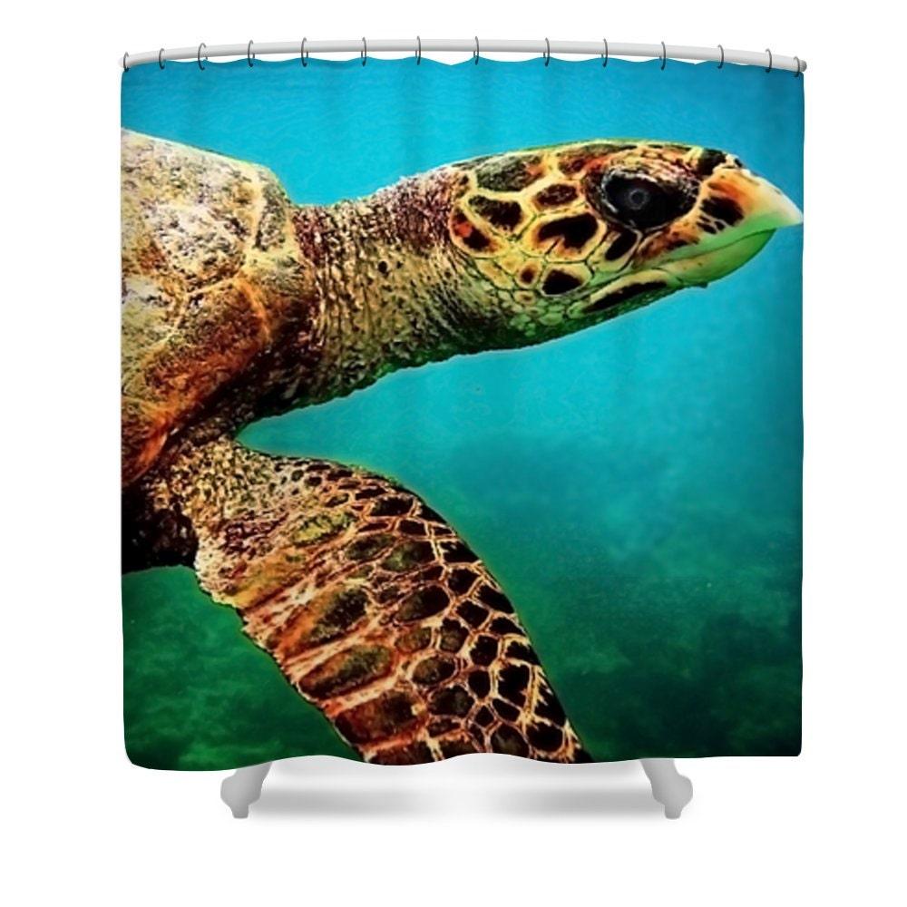 tortue de douche rideau salle de bain bleu tortue verte etsy. Black Bedroom Furniture Sets. Home Design Ideas