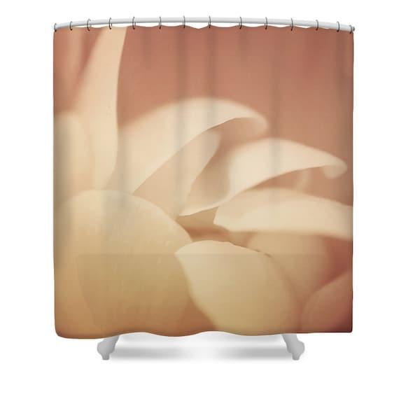 Peach Shower Curtain Bathroom Decor Floral
