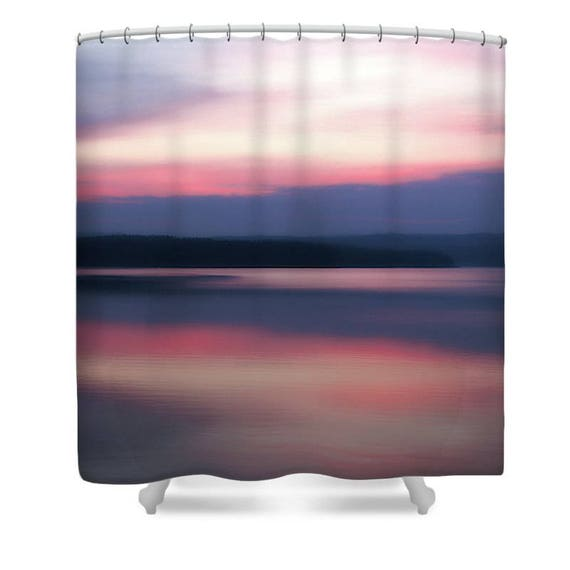 Pink Shower Curtain Ocean Purple