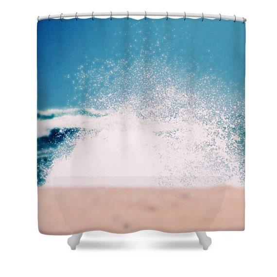 Blue Shower Curtain Bathroom Decor Ocean