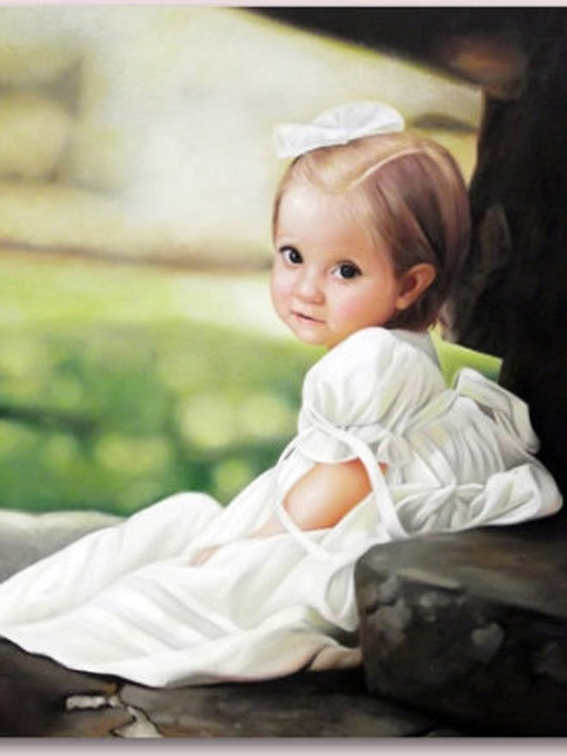 Custom portrait-custom oil painting-oil painting-custom child image 0
