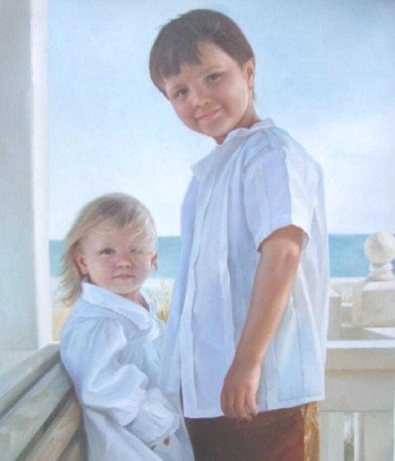 Children Custom Portrait-oil painting-custom portrait from image 0