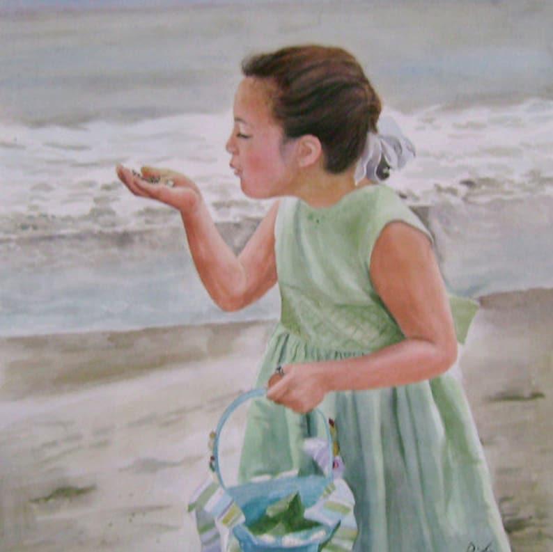 Child Custom Portrait-oil painting-custom portrait from image 0