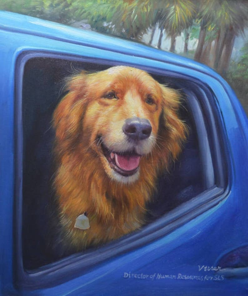 Pet Portrait Custom From Photograph Dog Painting Memorial image 0
