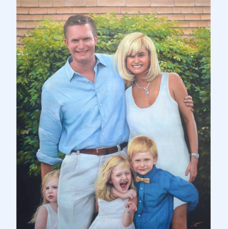 5 Subjects. Custom Family Portrait. Custom Portrait. Picture image 0