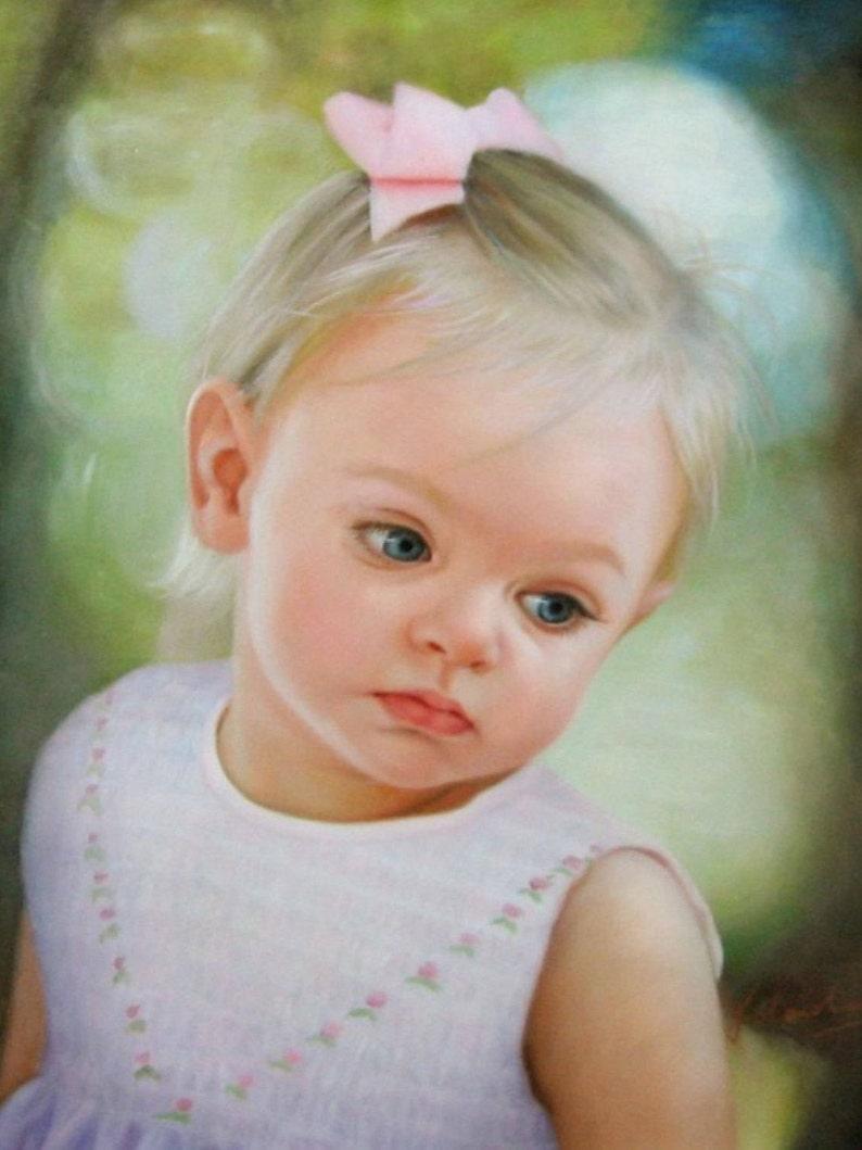 Custom portrait-custom oil painting-oil painting-custom child image 0