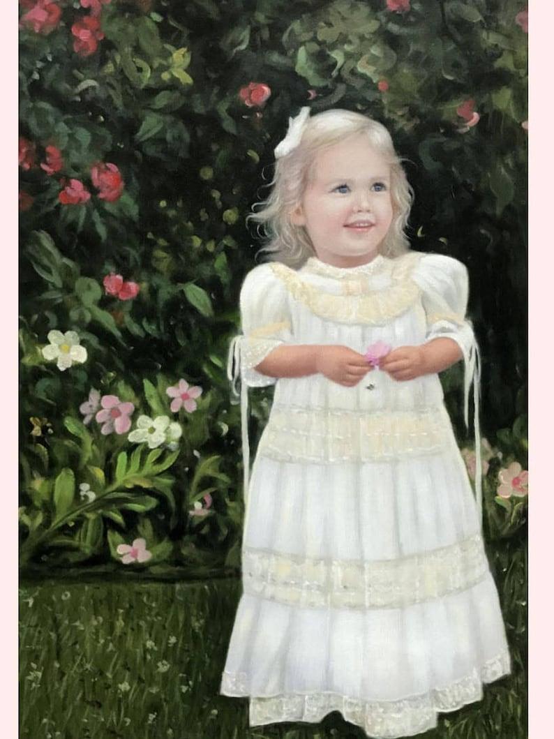 Custom portrait-custom oil painting-oil painting-custom baby image 0