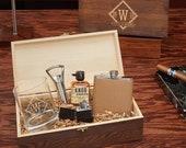 Drake Personalized All the Vices Whiskey Gift Set - Engraved Rocks Glass, Whiskey Lover Gift, Custom Rocks Glass, Hip Flask, Gift for Men