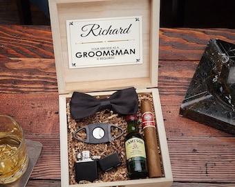 Drake Blackout Cigar Crate Gift Box Set - Perfect Groomsmen Gift Best Man Gift Wedding Party Gift Idea Groomsman Gift Cigar Box Gift Set & Groomsman gift box   Etsy