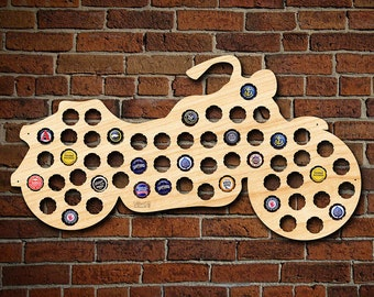 Motorcycle Gifts Beer Cap Map