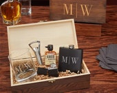 Quinton All The Vices Custom Whiskey Gift Set - Perfect for Whiskey Lovers, Engraved Whiskey Glass, Groomsmen Gift Set, Etched Whiskey Set