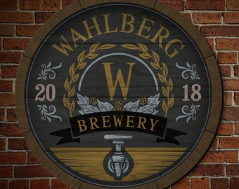 Perfect for Beer Lovers! - Wooden Keg Personalized Brewery Sign - Custom Bar Sign, Beer Enthusiast Gifts, Unique Wall Decor, Gifts for Him