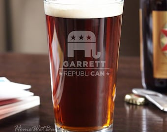 RepubliCAN Personalized Pint Glass