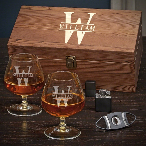 PERSONALISED SMALL BRANDY GLASS FREE ENGRAVING GIFT BOXED ANY TEXT