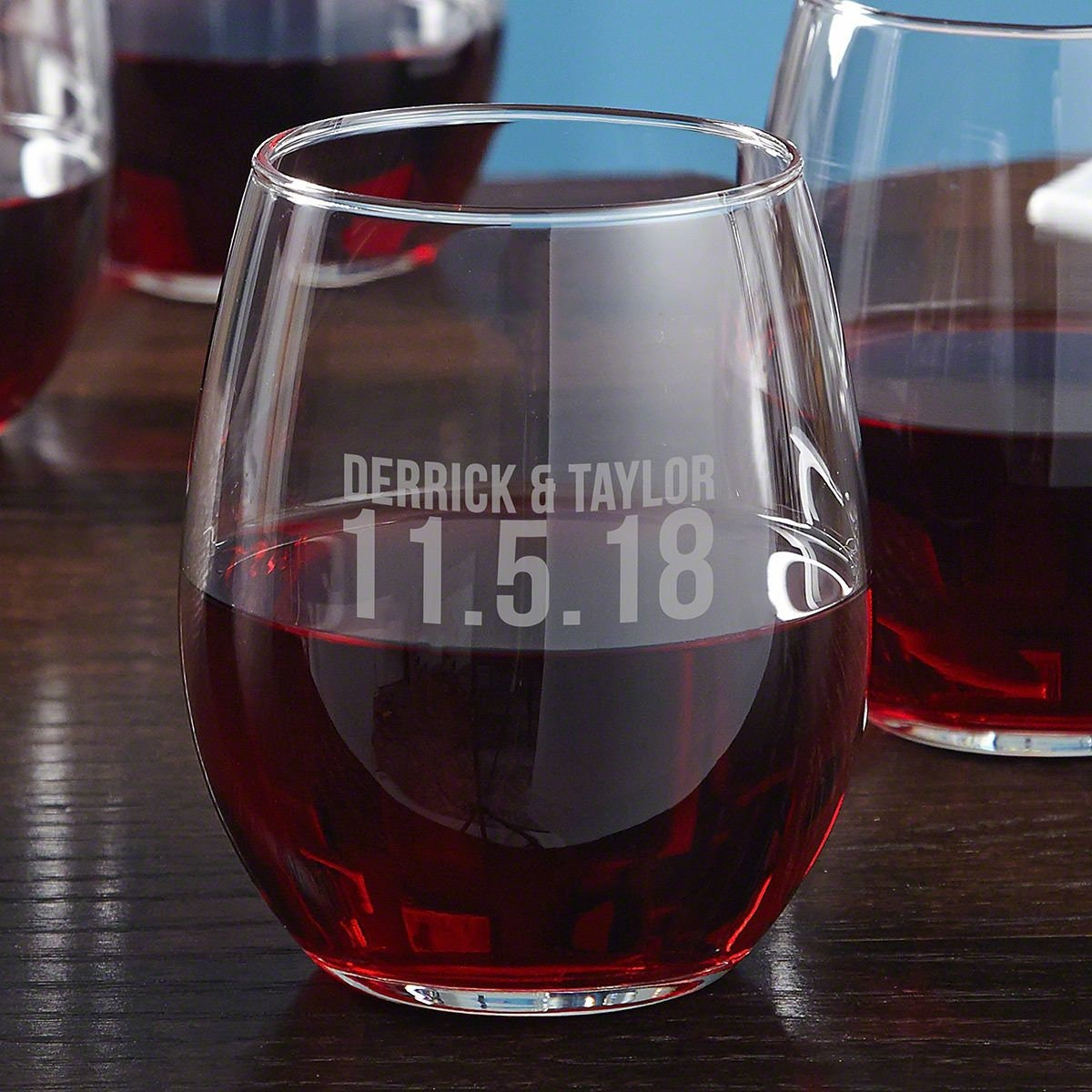 8b38db560c3 Better Together Personalized Stemless Wine Glass - Perfect for Wine Lovers  , Custom Wine Glass, Wedding Gift Idea, Great Anniversary Gift