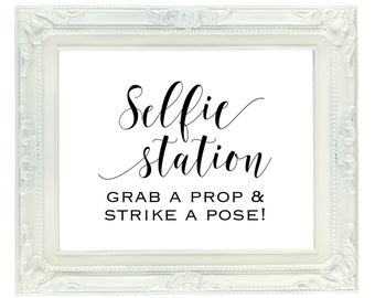 graphic regarding Selfie Station Sign Free Printable known as Chalkboard Photograph Booth Signal Printable 8x10 PDF Quick Etsy