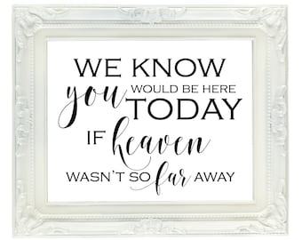 Those We Love Don't Go Away Memorial Sign 8x10 Printable | Etsy