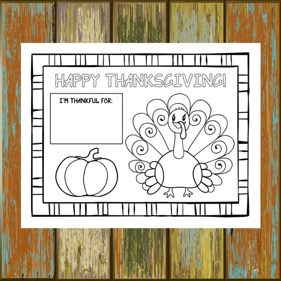 picture about Printable Thanksgiving Place Mats named Printable Thanksgiving Placemat, 8.5x11, 8.5x14, 11x17, Small children Thanksgiving Match, Thanksgiving Coloring, Childrens Thanksgiving Placemat