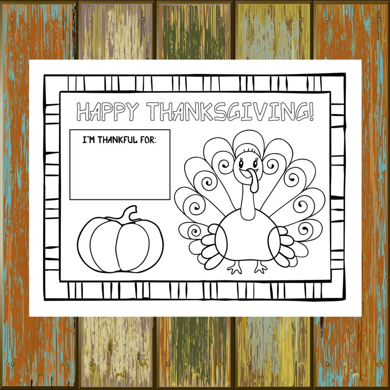 photo relating to Thanksgiving Placemats Printable titled Printable Thanksgiving Placemat, 8.5x11, 8.5x14, 11x17, Children Thanksgiving Match, Thanksgiving Coloring, Childrens Thanksgiving Placemat