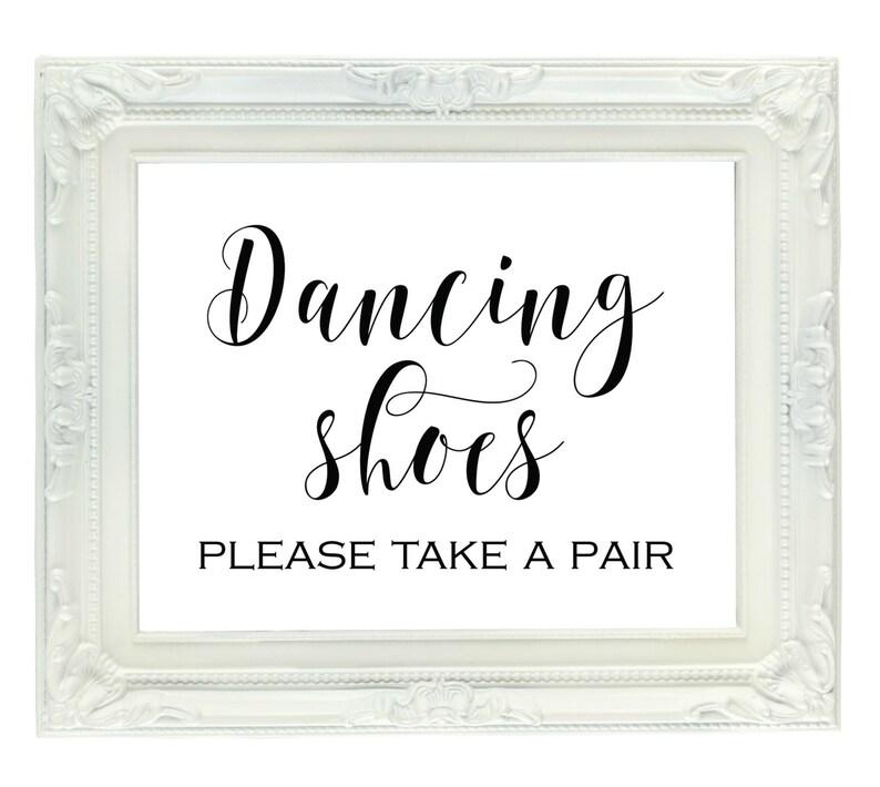 8b9ec2e0c527c Dancing Shoes Printable Wedding Sign 8x10 Dance Floor