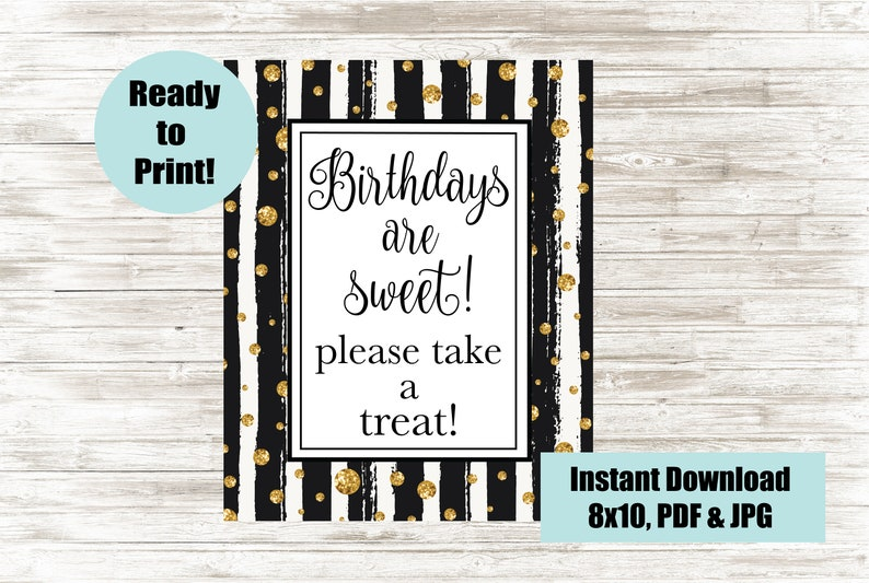Admirable Birthdays Are Sweet Please Take A Treat Printable Sweet Table Sign 8X10 Digital Sign Birthday Party Sign Dessert Or Candy Table Sign Download Free Architecture Designs Intelgarnamadebymaigaardcom