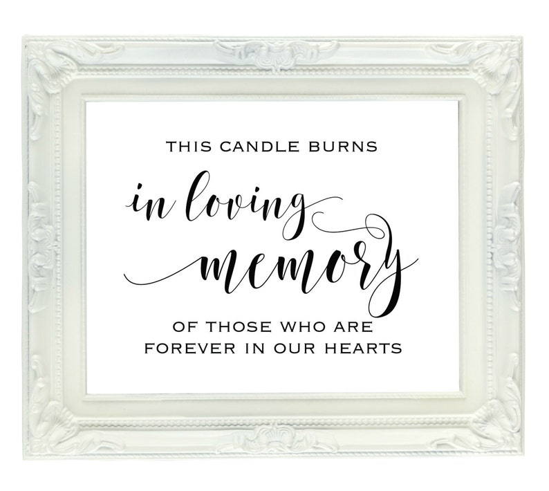 It's just a graphic of Enterprising This Candle Burns in Loving Memory Free Printable