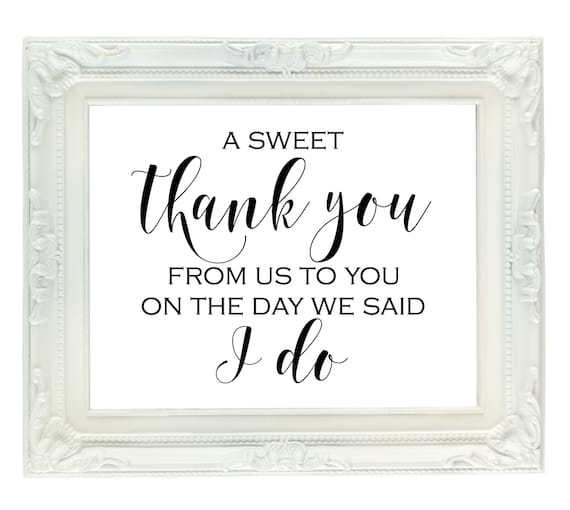 Wedding Thanks Quotes: A Sweet Thank You From Us To You On The Day We Said I Do