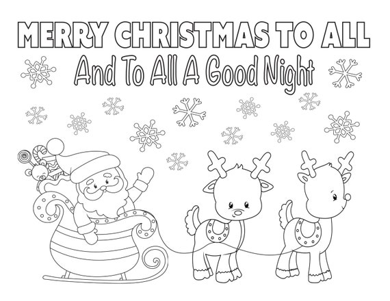 Christmas Coloring Page 8 5x11 Instant Download Printable Etsy