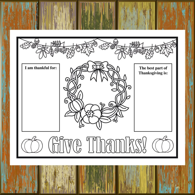 photograph about Printable Thanksgiving Placemat identify Printable Thanksgiving Placemat, 8.5x11, 8.5x14, 11x17, Youngsters Thanksgiving Sport, Thanksgiving Coloring Sheet