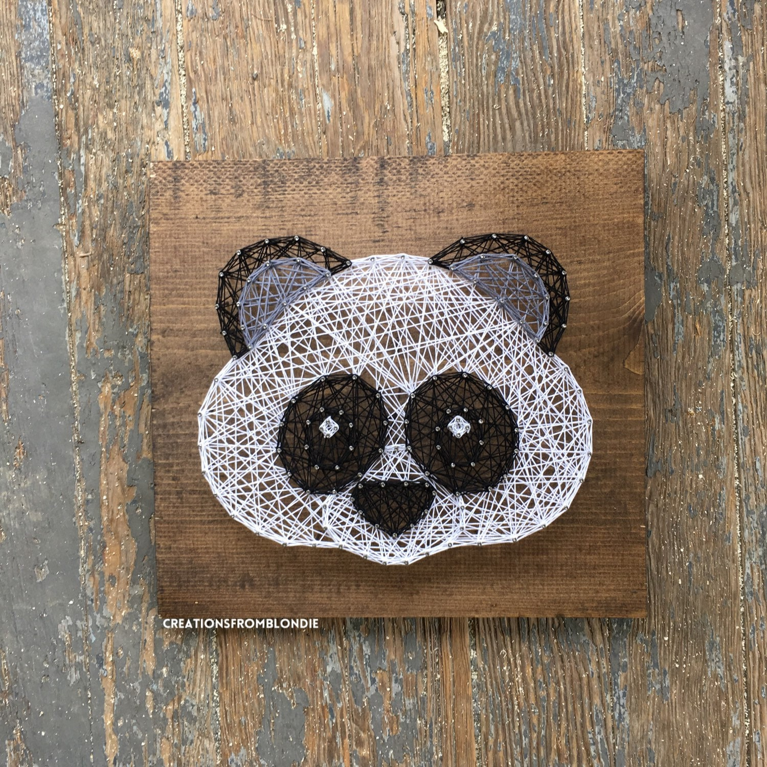zoom Panda String Art Sign MADE TO