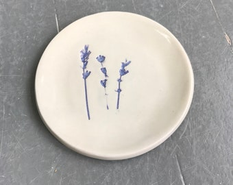 Spoon Rest, Ring Dish, Pottery, Lavender