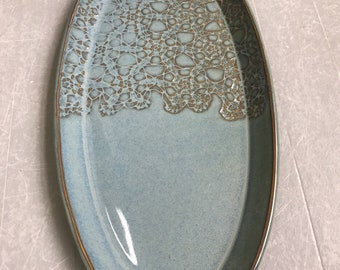 Oval Serving Dish, Porcelain, Clay, Plate