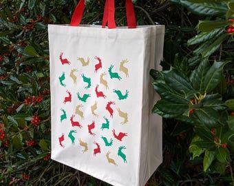 Christmas Gift Bag Holiday Shopping Bag Christmas Tote bag | Etsy