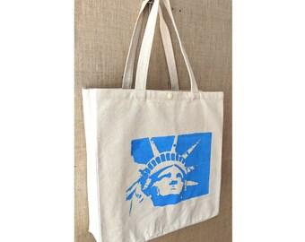Statue of Liberty, Tote Bag, Farmers Market Bag, Canvas Tote Bag, Shopping Bag, Eco Friendly Bag, Market Bag, Spring Tote,