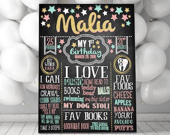 Little Star Birthday MILESTONE -Chalkboard - CUSTOM!