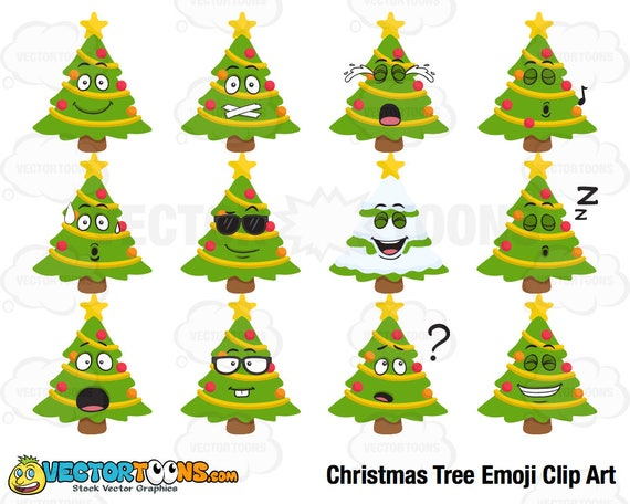 Christmas Tree Emoji.Christmas Tree Emoji Clip Art Digital Clipart Digital Graphics