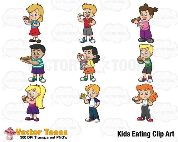 Kinder Essen Clip Digital Art Digitale Clipart Grafik Etsy